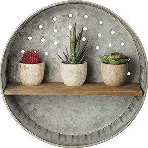 Primitives By Kathy Distressed Wall Shelf, Metal a